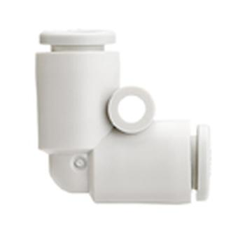 Smc Pneumatic Elbow Tube-To-Tube Adapter, Push In Connection A 4Mm, B 4Mm