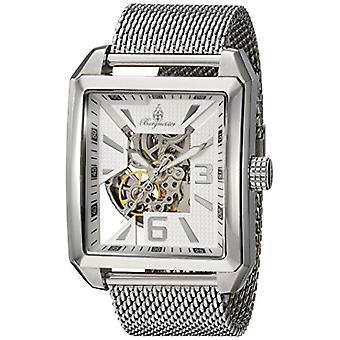 برجييستر للرجال Automatic Watch مع شاشة تمثيلية فضية وحزام من الصلب bm325___111