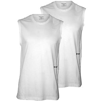 Calvin Klein 2-Pack Statement 1981 Muscle Tank Top Vests, White
