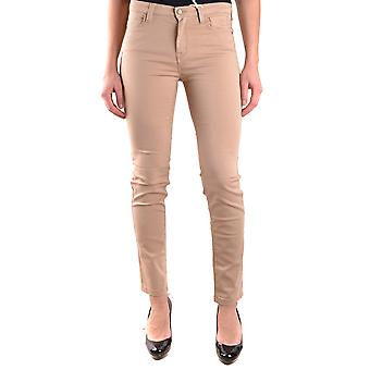 Jeckerson Ezbc069029 Women's Beige Cotton Jeans