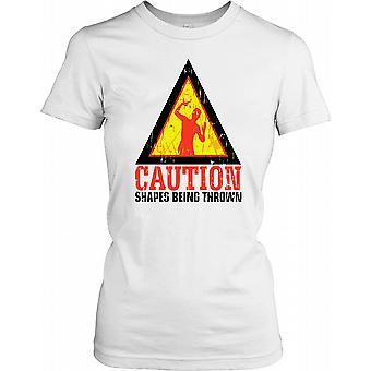 Vorsicht Shapes geworfen - lustige Damen T Shirt