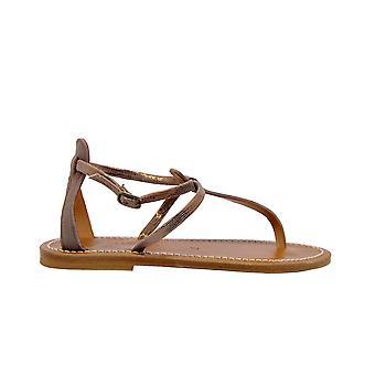 K.jacques Buffondiscobronzo Women's Bronze Leather Sandals