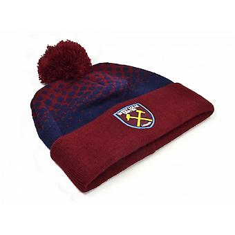 West Ham United FC Unisex Fade Bobble Hat