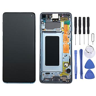 Samsung display LCD complete set GH82-18850 C blue / Prism blue for Galaxy S10 G973F 6.1 inch