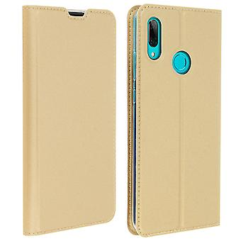Slim Flip plån bok fall, Business serie Huawei P smart 2019/Honor 10 lite guld