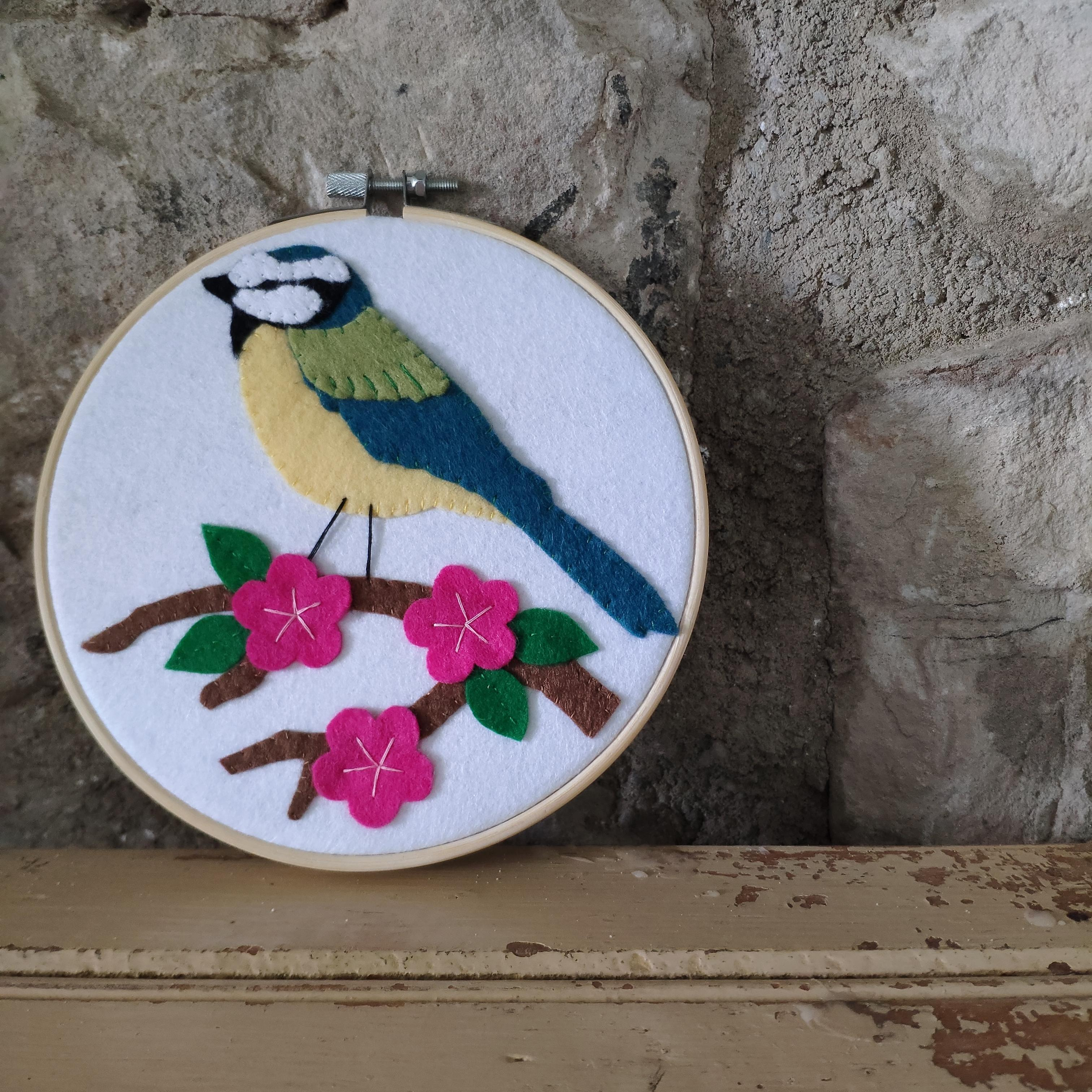 British Blue Tit Appliqué Kit