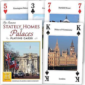 Berühmte Stately Homes & Palaces Deck von 52 Spielkarten + Jokern (hpc)