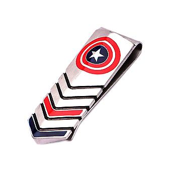 Captain America Shield Logo Stainless Steel Money Clip
