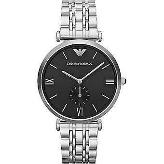 Emporio Armani Ar1676 Mens Black & Stainless Steel Watch