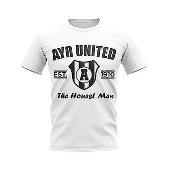 Ayr United etablert fotball T-skjorte (hvit)