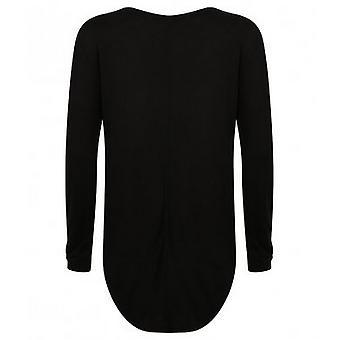 SF Womens/Ladies Long Sleeve Slounge Top