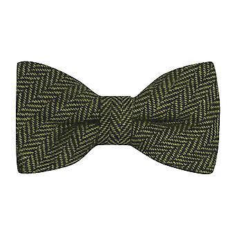 Augurk groen & zwart Graatvormige strikje