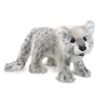 Hand Puppet - Folkmanis - Leopard, Snow Cub Soft Doll Plush 3137