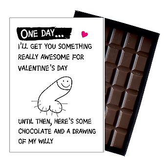 Valentine?s Day Funny Gift For Girlfriend Wife Rude Boxed Chocolate Greeting Card Present OD107