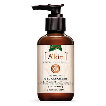 A'kin Gel purificator Cleanser Makeup Remover 100% Natural Australian Skincare