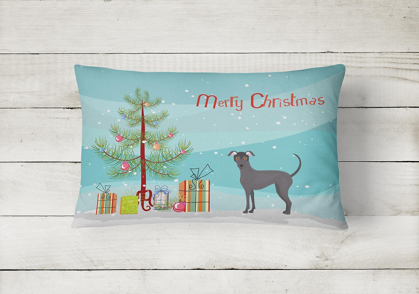 Argentine Pila Dog Christmas Tree Canvas Fabric Decorative Pillow - Dégagement zvNx7