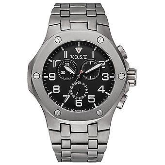 V.O.S.T. Germany V 100.018 Titanium Chronograph men's Watch 44mm