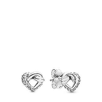 Pandora vrouw zilveren Stud Oorbellen 298019CZ