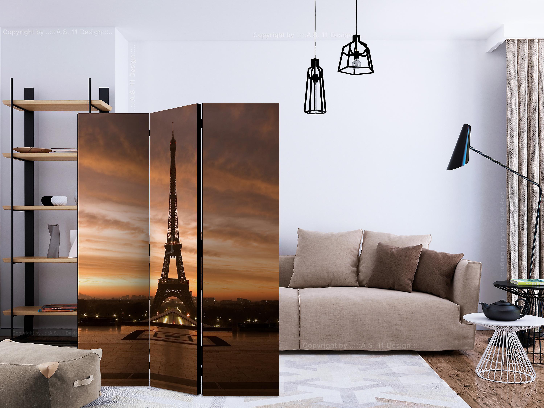 Paravent 3 volets - Evening Colours of Paris [Room Dividers]