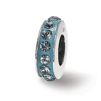925 plata esterlina pulido reflexiones Dec una sola fila cristal perlas encanto colgante collar joyería regalos para las mujeres