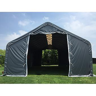 Storage shelter PRO 8x12x5.2 m PVC w/ skylight, Grey