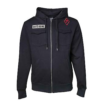 Days Gone Hoodie Deacons Ride the Broken Road new Official Mens Black Zipped