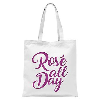 Rose All Day Tote Bag - Blanc