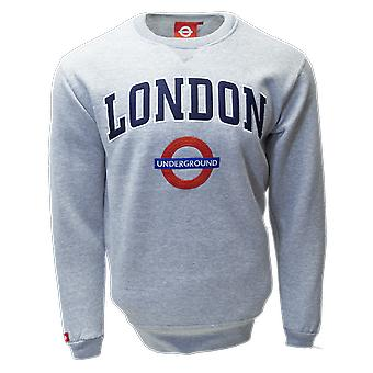 Tfl™201 licensed unisex london applique underground™ sweatshirt sports grey