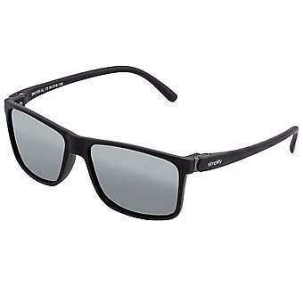 Simplificar las gafas de sol polarizadas Ellis - Negro/Plata