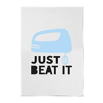 Just Beat It Cotton Tea Towel