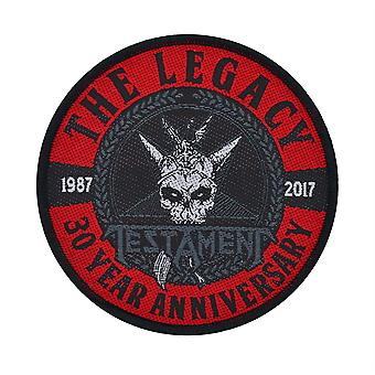 Testament Legacy 30 Year Anniversary Woven Patch