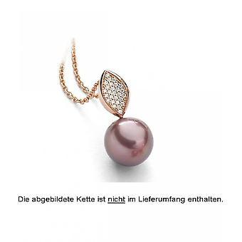 Luna-Pearls pärla hänge sötvatten pärla 11.5-12 mm 585/-rosegold 27 briljanter 0,11 CT. 3001220