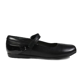 Startrite Lucy Black Leather Girls Mary Jane School Shoes