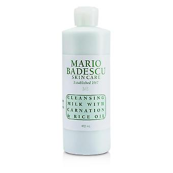 Mario Badescu Cleansing Milk With Carnation & Rice Oil - For Dry/ Sensitive Skin Types - 472ml/16oz