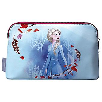 Frozen kosmeettinen laukku Elsa minun elementti logo uusi virallinen Disney taivas sininen