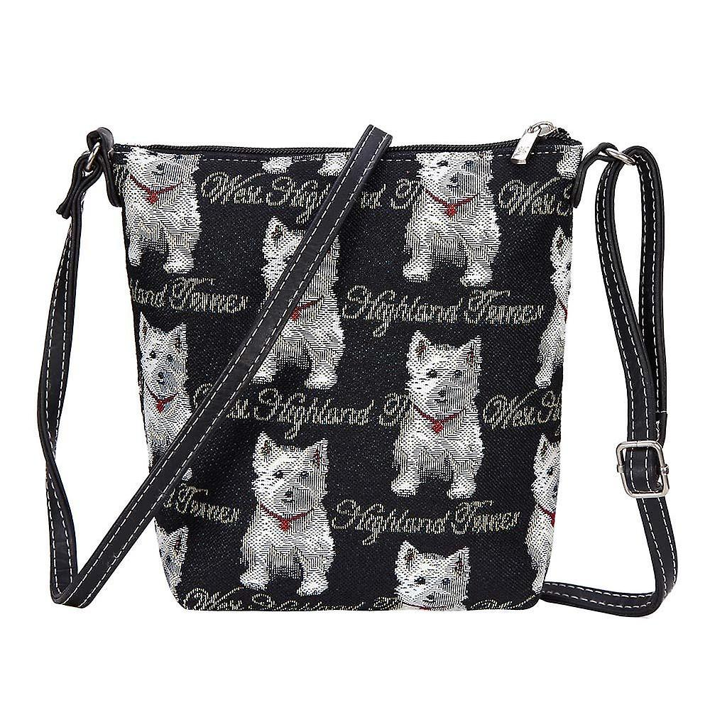 Westie shoulder sling bag by signare tapestry / sling-wes