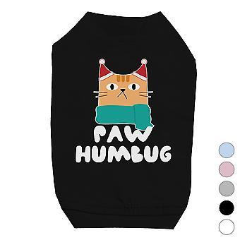Pfote Humbug Cool X-mas Haustiere Shirt Urlaub Geschenk