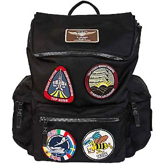 Top Gun Backpack With Patches Black