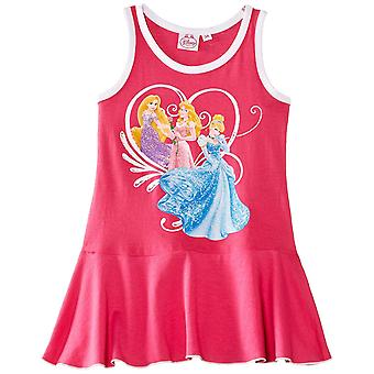 Garotas Disney princesa vestido sem mangas
