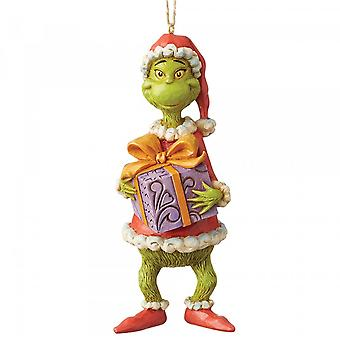 Jim Shore The Grinch Grinch Holding Present Hanging Ornament