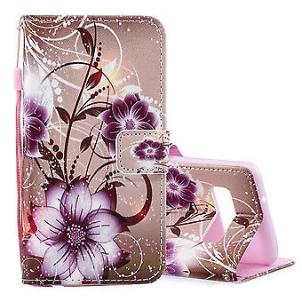 For Samsung Galaxy S10 Case Lotus Pattern PU Leather Folio Cover