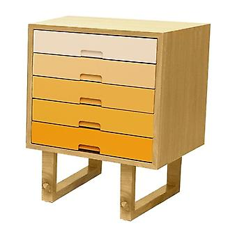 Fusion Living Scandi Style Oak And Yellow Side Table