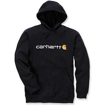 Carhartt Mens Stretchable assinatura logotipo com capuz moletom Top