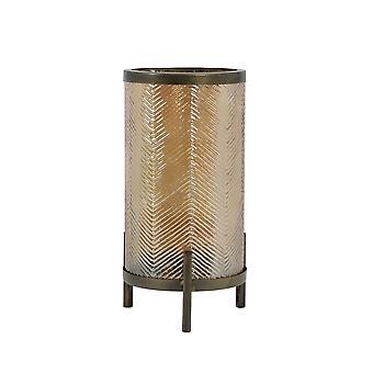 Light & Living Hurricane 15.5x31.5cm - Tibor Glass Gold Luster And Antique Bronze