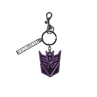 Transformers Decepticon Metal Charm Keyring