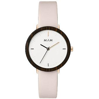Mam Original Japanese Quartz Analog Woman Watch with FERRA 636 Cowskin Bracelet
