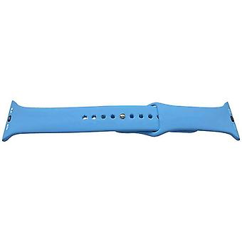 Watch strap made by w&cp to fit apple iwatch blue 42mm rubber stainless steel buckle