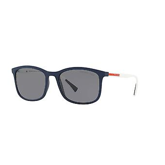Prada Sport Linea Rossa SPS01T 288255 Blue Rubber/Polarised Grey Sunglasses
