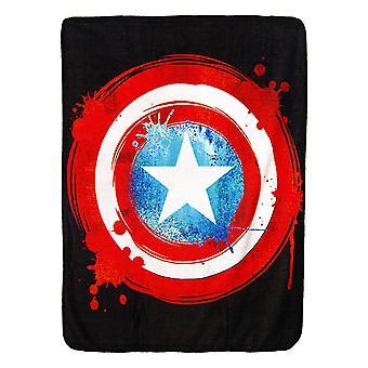 Super Soft Throws - Captain America - Shield New 45x60