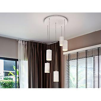 Schuller Vika - LED ceiling lamp, made of metal, finished in sanded matt white. Opal acrylic diffuser. 42W LED, 4000 lm, 3000 K. - 847351